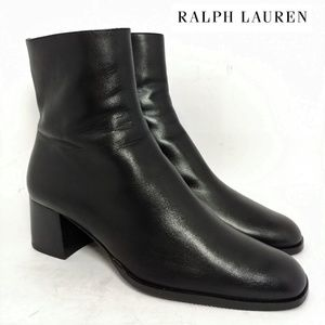 "Ralph Lauren Italy 7"" Zip Up Boots Sz 7.5B"